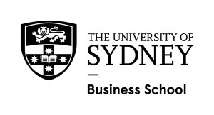 University of Sydney logo lockup - Business School - mono