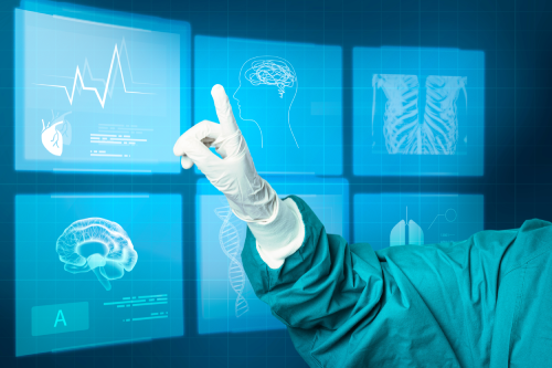 hand-medical-glove-pointing-virtual-screen-medical-technology