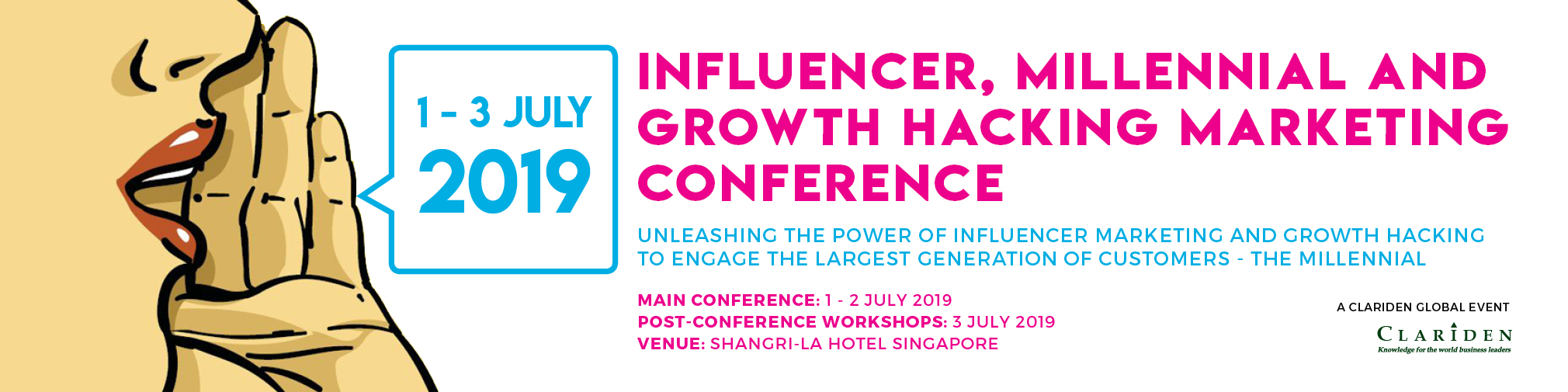 Influencer, Millennial & Growth Hacking Marketing Conference