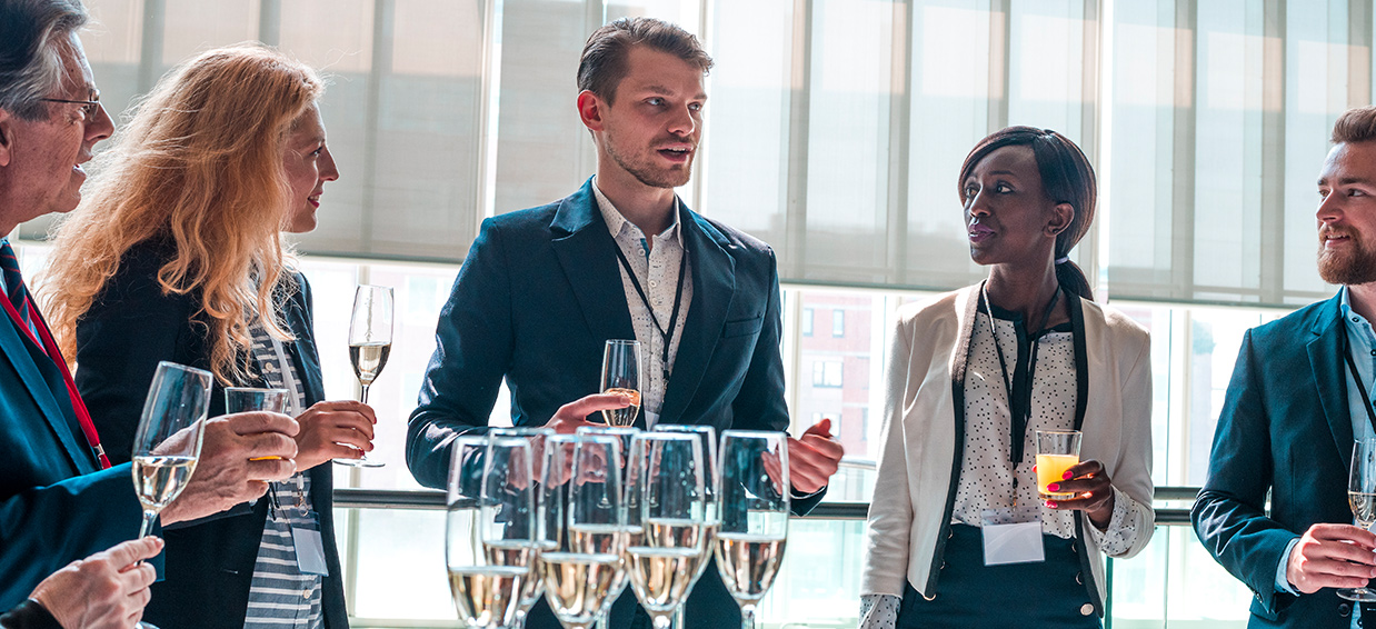 New champagne networking session